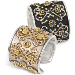 Filigree rings inspired by ancient tile motifs by Diana Widman Design in Chicago.