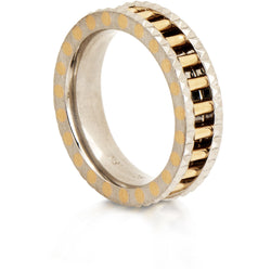 Gold architectural ring by Diana Widman Design in Chicago.