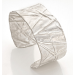 silver cuff bracelet made of folded silver by Diana Widman
