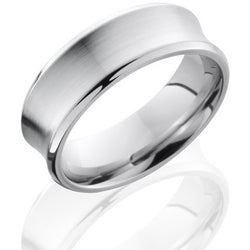 Concave Steel Wedding Ring