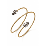 Gold double bangle with silver accents by Diana Widman Design in Chicago