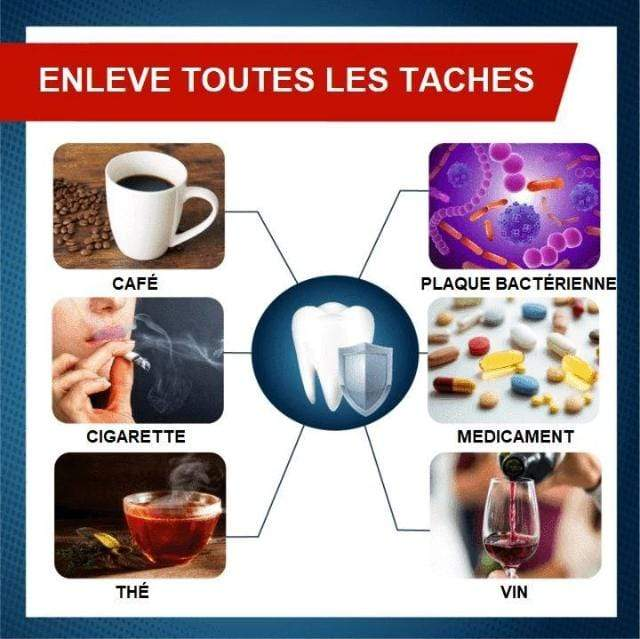 Gadgets d'Eve SNOWY™ : Dentifrice Blanchissant Anti-Taches Intensif