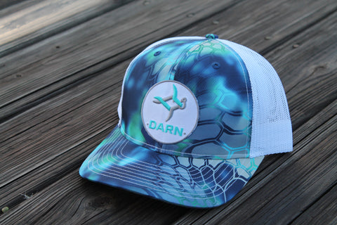 Aqua Fish Patch Kryptek Hat