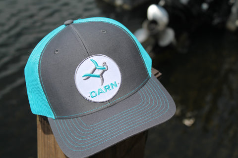 Aqua Fish Patch Hat Teal