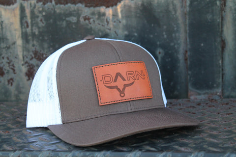 DARN Cattle Co. Bullhead Leather Patch Hat Brown