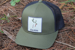 Deer Hat Military Green and Black