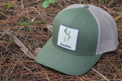 Deer Hat Olive Green and Beige