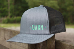 Gray and Black DARN Hat