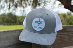 Aqua Fish Patch Hat Heather Grey