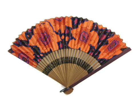 Koi and Coquette hand fan