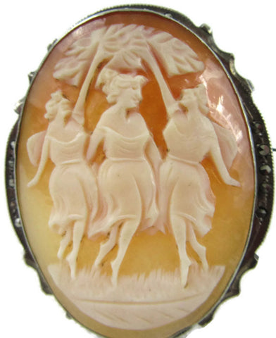 By the three graces pin & pendant