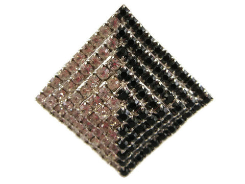 Sparkle pyramid brooch
