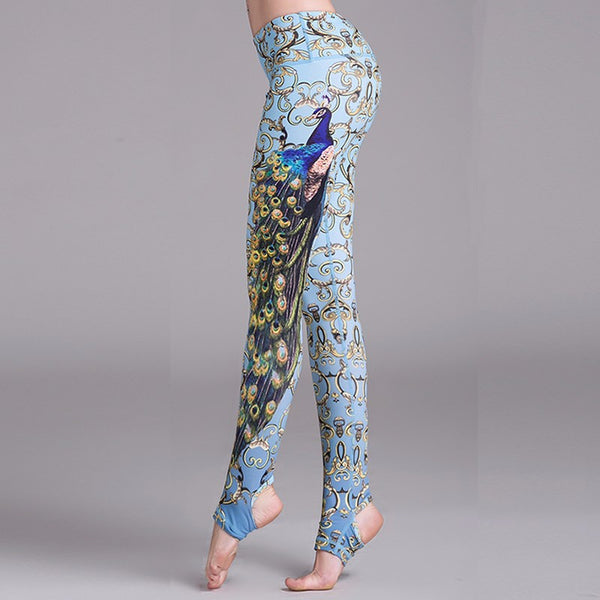 Peacock Stirrup Yoga Leggings