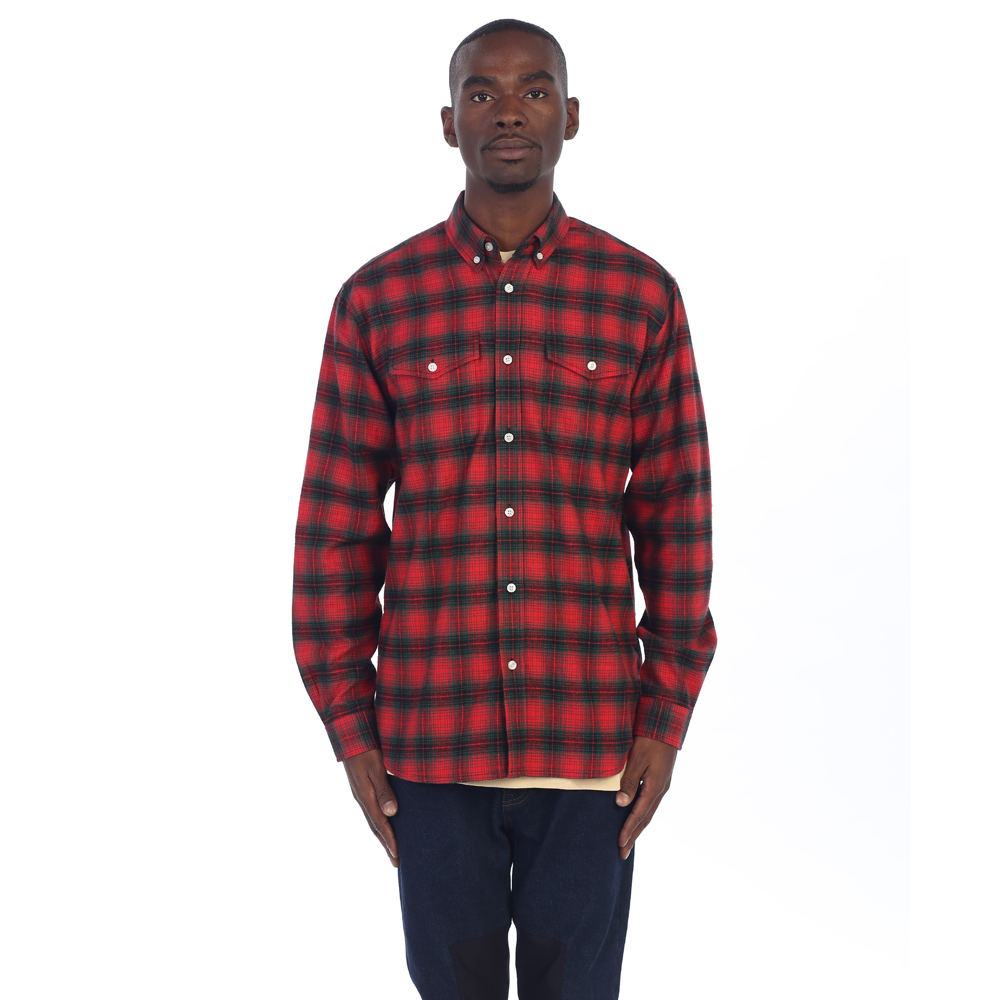 ZIP FLANNEL - Red/Green