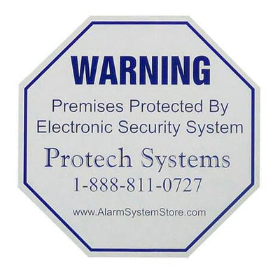 Alarm system warning decal stickers