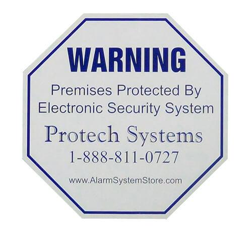 Alarm Warning Decal Stickers (4 pack)
