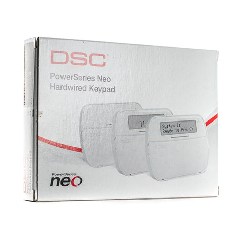 DSC PowerSeries NEO HS2LCDRF9ENG Full Message LCD Hardwired Keypad w/ English function keys and Built-in PowerG Transceiver