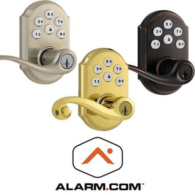 Kwikset 912 Z-Wave SmartCode Lever Lock with Home Connect