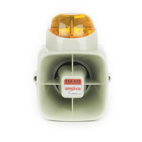 POT-SSX52SA Indoor/Outdoor 15W Siren with Amber Strobe