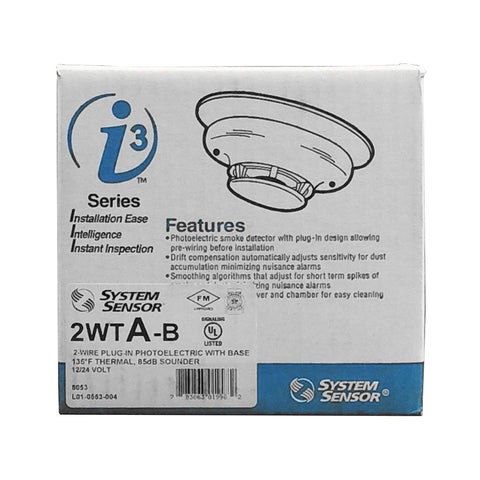 System Sensor 2WTA-B Two Wire Smoke Detector With Built-In Heat Sensor And Sounder