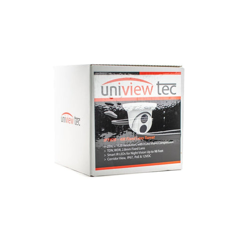 Uniview Tech IPT428 - 4MP H.265 IR Outdoor Turret Dome Camera 2.8mm lens