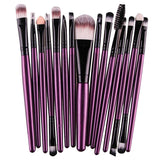 15 Pieces Makeup Brush Set Professional Eye Shadow Foundation Eyebrow Lip Brush Tool