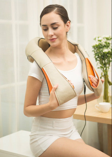Kneading Electric Heating  massage  cape Shiatsu  Back Neck  Shoulder Massager massage relaxation