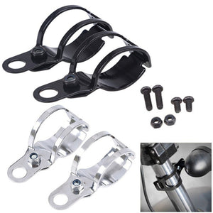27-31mm Aluminum Motorcycle Turn Signal Bracket Fork Light Clamp for Harley Sporster - Soromade Harley Davidson parts