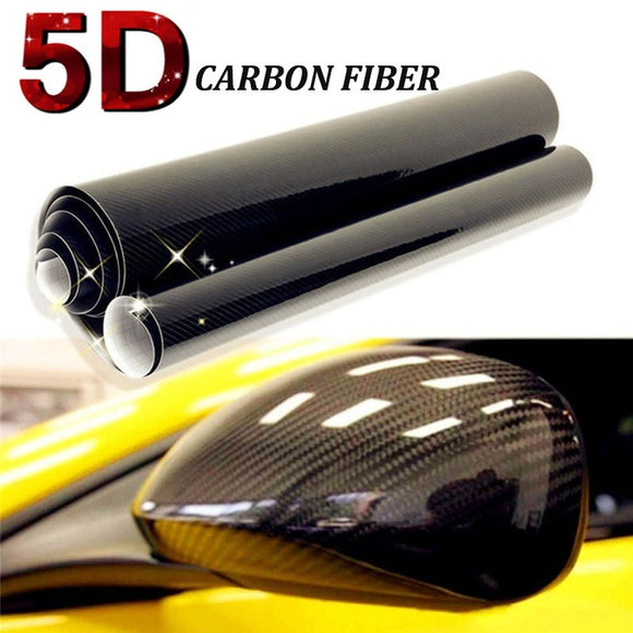 127cmx30cm 5D Auto Carbon Fiber Vinyl Film Carbon Car Wrap Sheet Roll Film Paper Motorcycle Car Stickers Decal Car Styling Acces - Soromade Harley Davidson parts