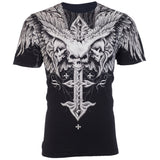 Fashion Archaic AFFLICTION Cool Skull Print Plus Size Men T-Shirt  Tattoo Biker M-5XL - Soromade Cycles