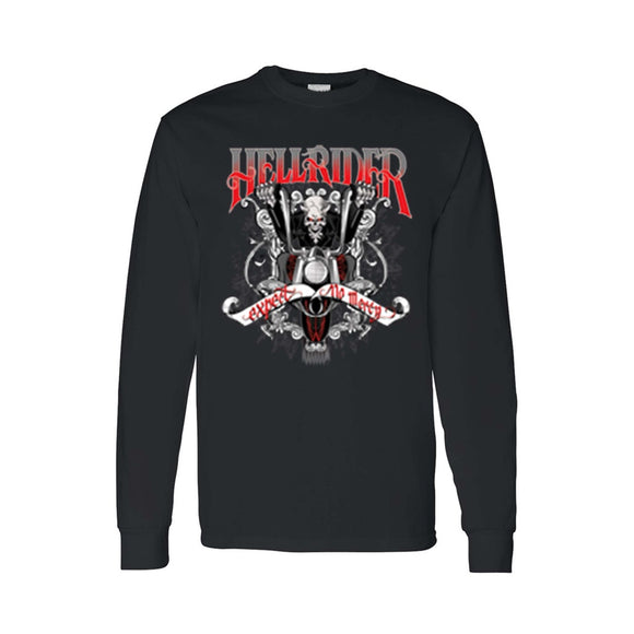 Men's/Unisex Biker Hellrider Expert No Mercy Long Sleeve T-shirt - Soromade Harley Davidson parts