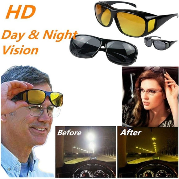New HD Vision Glasses Over Wrap Arounds Sunglasses Men Women Night Driving UV400 Protective Eyewear Goggles Driver Safety Sun Gl - Soromade Harley Davidson parts