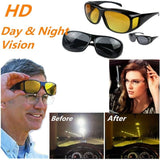 New HD Vision Glasses Over Wrap Arounds Sunglasses Men Women Night Driving UV400 Protective Eyewear Goggles Driver Safety Sun Gl - Soromade Cycles