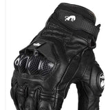 Furygan AFS 6 Leather Motorcycle Gloves Carbon Fiber Genuine Gloves - Soromade Harley Davidson parts