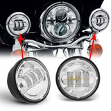 "3pcs/set 30W 4.5inch 4.5"" led fog light 45W 7inch 7"" led motorcycle headlight for Harley Dvidson - Soromade Harley Davidson parts"