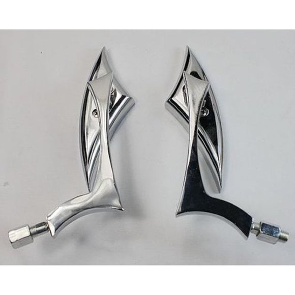 Chrome Blade Motorcycle Mirrors For Harley Dyna Softail Sportster Touring - Soromade Harley Davidson parts