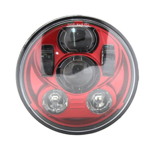 "2017 New Motos Accessories 5.75"" red LED headlight motorcycle for Harley Davidson 5-3/4"" Motorcycle Red Projector Daymaker - Soromade Harley Davidson parts"
