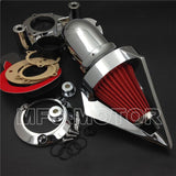 For Harley Dyna 2008-2012 Electra Glide FLHX Road King Cone Spike Air Cleaner - Soromade Harley Davidson parts