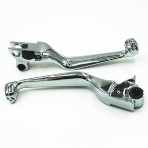 Chrome Skull Brake Clutch Levers Fit Harley Softail Heritage Road King Classic Super Glide Dyna Fat Bob FXDF Electra Glide CVO - Soromade Harley Davidson parts