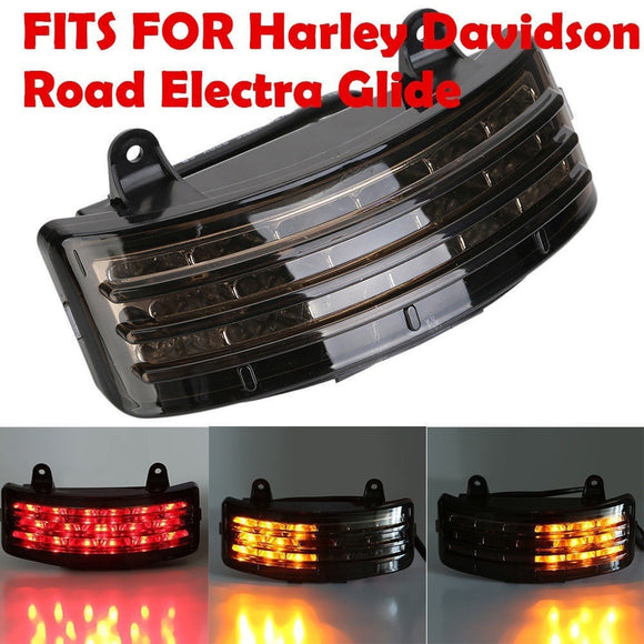 Rear Fender Tri-Bar LED Brake Taillight Turn Signal for Harley Touring FLHX - Soromade Cycles