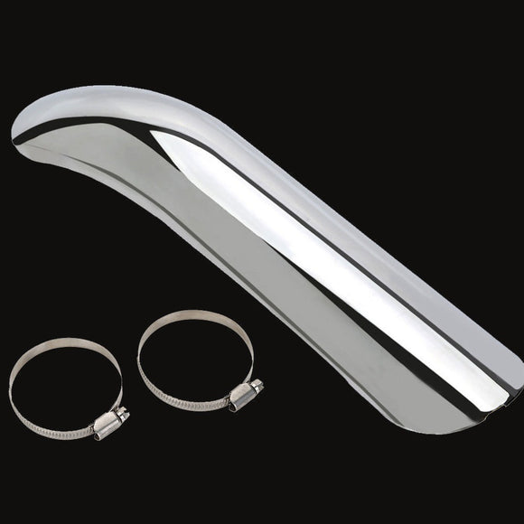 Heat Shield Curve Exhaust Muffler Pipe Cover Heel Guard for HONDA SUZUKI HARLEY - Soromade Cycles