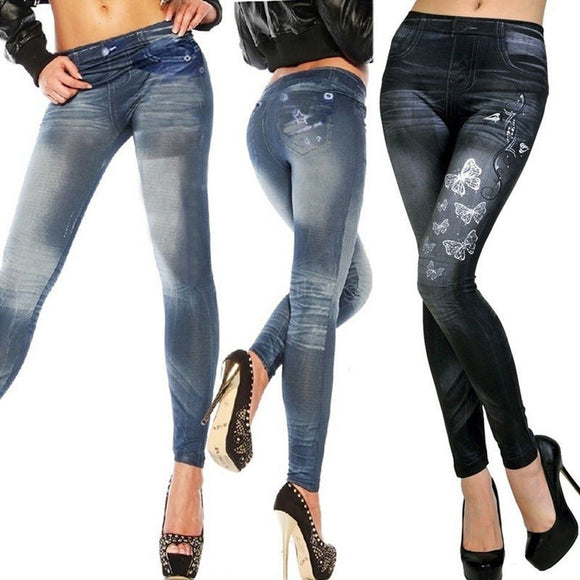 WOMENS SEXY SKINNY LEGGINGS JEANS JEGGINGS STRETCHY PANTS DENIM - Soromade Harley Davidson parts
