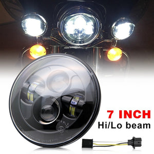 "7"" LED Projector Daymaker Headlight Harley Street Glide Softail FLHX F DOT E-mark Approved - Soromade Cycles"
