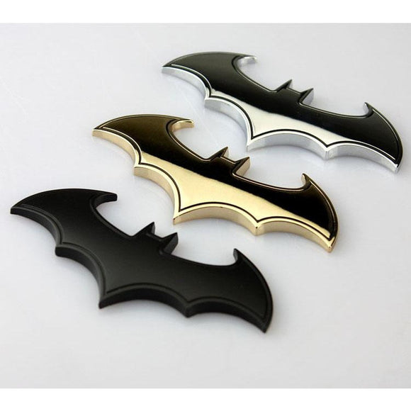 Batman 3D Chrome Metal Auto Car Motorcycle Logo Sticker Badge Emblem Tail Decals - Soromade Harley Davidson parts