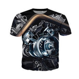 High quality Cool T-shirt Men or Women 3d Tshirt Print Motor Heavy Metal Skull Retro Short Sleeve Summer Tops Tees fashion Plus - Soromade Harley Davidson parts
