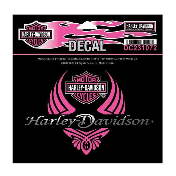 Harley-Davidson Women's Diva Wings Bar & Shield Decal SM Size - Soromade Harley Davidson parts