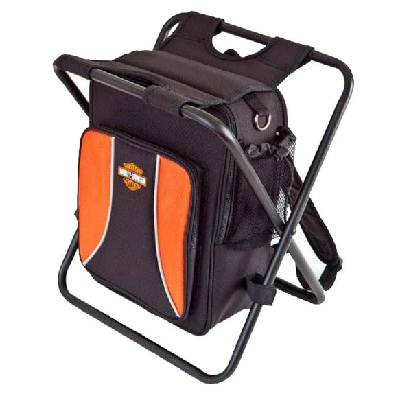 Harley-Davidson Backpack Cooler Seat Orange & Black 99304-BLK (Size: 14.75