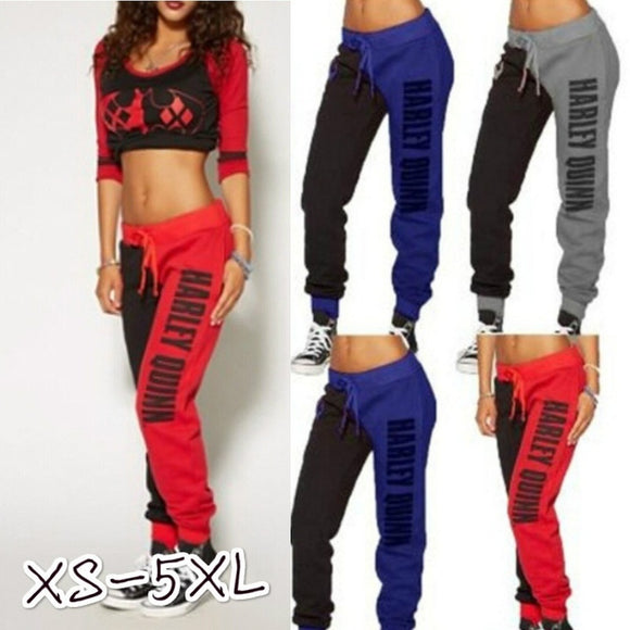 Suicide Squad Harley Quinn Trousers Ladies Tracksuit Bottoms Jogging Gym Pants - Soromade Harley Davidson parts