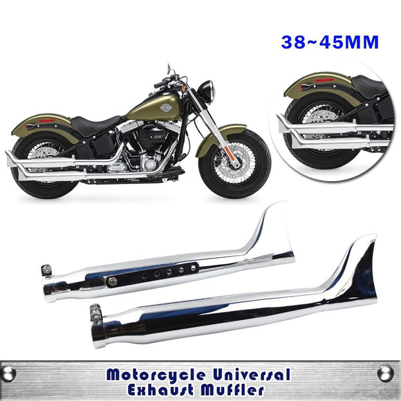 Fishtail Exhaust 38 40 42 45mm Universal Motorcycle Exhaust Muffler pipe Vintage Vertical Case For Harley-Davidson - Soromade Harley Davidson parts