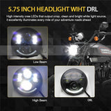 COLIGHT 5.75'' LED Projection Daymaker Headlight For Harley Sportster XL 883 1200 Dyna - Soromade Harley Davidson parts